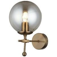 Casa Applique Homemania Lampada a Parete Polino, Nero, Oro, L18xP25xA29 cm Nero, Oro