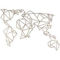 Casa Dipinti, tele Homemania Decorazione da Parete Mondo Mappa, Rame, L100xP0,15xA58 cm Rame