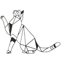 Casa Dipinti, tele Homemania Decorazione da Parete Gatto Animali, Nero, L51xP0,15xA36 cm Nero