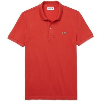 Abbigliamento Uomo Polo maniche corte Lacoste Polo Slim Fit Rosso Rosso