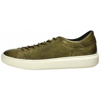 Scarpe Uomo Sneakers Pawelk's Sneaker in pelle Verde Militare Verde