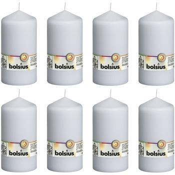 Casa Candele, diffusori Bolsius Candele Moccoli 8 pz 150x78 mm Bianche Bianco