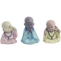 Casa Statuette e figurine Signes Grimalt Buddha 3 Diversi Set 3U Multicolor