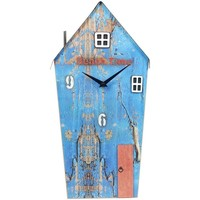 Casa Orologi Signes Grimalt Legno Di Recupero Clock House Azul