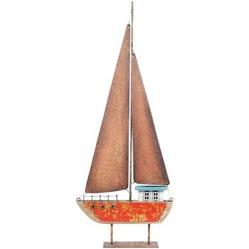 Casa Statuette e figurine Signes Grimalt Barca A Vela In Legno Riciclato Rojo