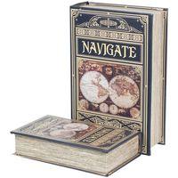 Casa Bauli, scatole di immagazzinaggio Signes Grimalt Naviga Tra Le Scatole Dei Libri Set 2U Multicolor