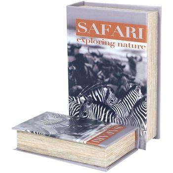 Casa Bauli, scatole di immagazzinaggio Signes Grimalt Zebra Safari 2U Scatole Libro Multicolor