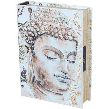 Casa Bauli, scatole di immagazzinaggio Signes Grimalt Libro Di Sicurezza-Buddha Box Beige