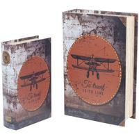 Casa Bauli, scatole di immagazzinaggio Signes Grimalt Scatole Per Libri Per Aeroplani Retrò 2U Multicolor