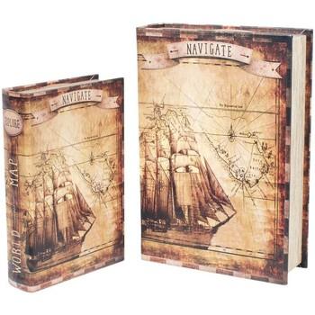 Casa Bauli, scatole di immagazzinaggio Signes Grimalt Scatole Di Carta Della Barca 2U Nel Mese Di Settembre Marrón