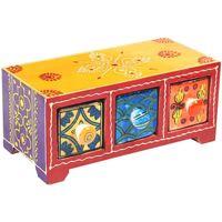 Casa Bauli, scatole di immagazzinaggio Signes Grimalt Portaspezie 3 Cassetti Multicolor