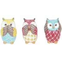 Casa Statuette e figurine Signes Grimalt Owl 3 Set Unità Multicolor