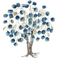 Casa Piante artificiali Signes Grimalt Ornamento Di Foglie Di Albero Da Parete Azul