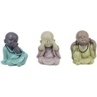 Casa Statuette e figurine Signes Grimalt Buda Vedere, Sentire, Parlare 3U Multicolor
