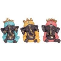 Casa Statuette e figurine Signes Grimalt Ganesh Non Vedere-Sentire-Parlare 3U Multicolor
