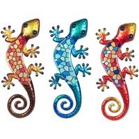 Casa Statuette e figurine Signes Grimalt Vetro Lizard 3U Multicolor