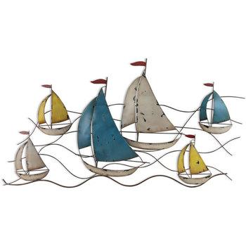 Casa Statuette e figurine Signes Grimalt Ornamento Da Parete In Barca Multicolor
