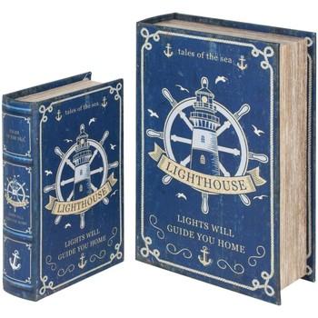 Casa Bauli, scatole di immagazzinaggio Signes Grimalt Scatole Per Libri Del Timone Set 2U Azul