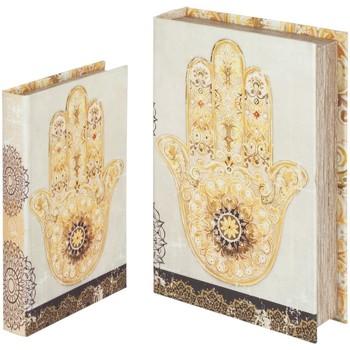 Casa Bauli, scatole di immagazzinaggio Signes Grimalt Mano Libro Fatima Nel Settembre 2U Beige