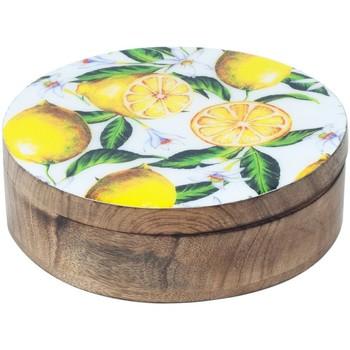 Casa Bauli, scatole di immagazzinaggio Signes Grimalt Limoni Scatola Rotonda Multicolor