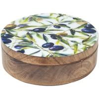 Casa Bauli, scatole di immagazzinaggio Signes Grimalt Scatola Rotonda Olive Multicolor