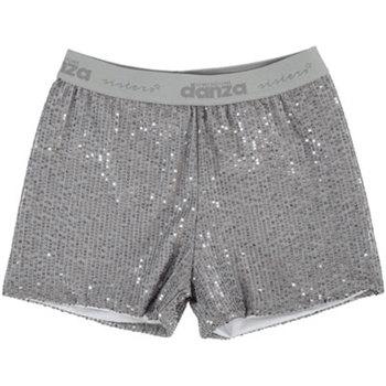 Abbigliamento Bambina Shorts / Bermuda Dimensione Danza SHORT PAILLETTES GIRL Silver