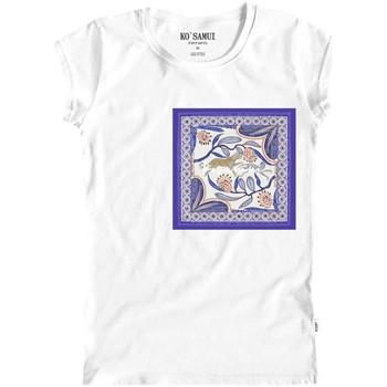 Abbigliamento Donna T-shirt maniche corte Ko Samui Tailors Lawn Bandana T-Shirt Bianco Bianco