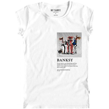 Abbigliamento Donna T-shirt maniche corte Ko Samui Tailors Graffiti Art T-Shirt Bianco Bianco