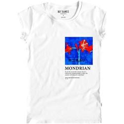 Abbigliamento Donna T-shirt & Polo Ko Samui Tailors Amaryllis Art T-Shirt Bianco Bianco