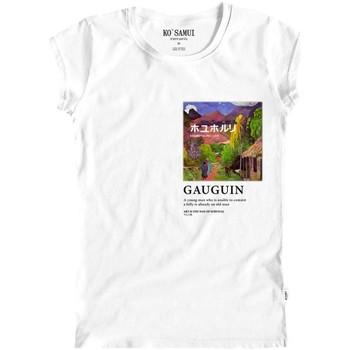 Abbigliamento Donna T-shirt maniche corte Ko Samui Tailors Thaitian Art T-Shirt Bianco Bianco