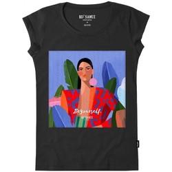 Abbigliamento Donna T-shirt & Polo Ko Samui Tailors Be Yourself Stitch T-Shirt Nero Nero