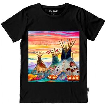 Abbigliamento Uomo T-shirt & Polo Ko Samui Tailors Huts Stitch T-Shirt Nero Nero