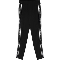 Abbigliamento Donna Pantaloni da tuta Sixth June Legging  bande imprimée noir/blanc