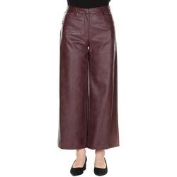Abbigliamento Donna Pantaloni morbidi / Pantaloni alla zuava Manila Grace P098EU MD901- BORDEAUX Bordeaux
