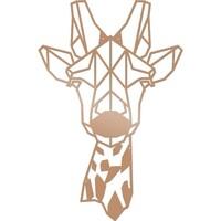 Casa Dipinti, tele Homemania Decorazione da Parete Giraffe Animali, Rame, L33xP0,15xA50 cm Rame