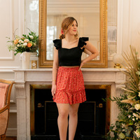 Abbigliamento Donna Gonne Céleste AZALEE Rosso / Multicolore