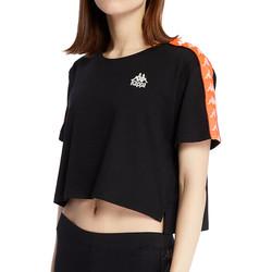 Abbigliamento Donna T-shirt maniche corte Kappa 303WGQ0 Nero
