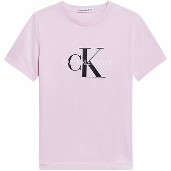 Abbigliamento Bambina T-shirts a maniche lunghe Calvin Klein Jeans T-shirt Bambina  IU00068 TIQ Rose