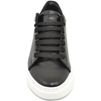 Scarpe Uomo Sneakers basse Malu Shoes Sneakers uomo nero in vera pelle di nappa classico sportiva lin NERO