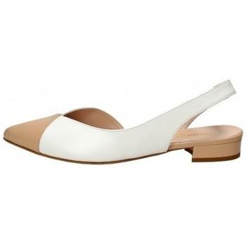Scarpe Donna Sneakers Il Borgo Firenze Slingback in pelle Bianco Bianco