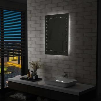 Casa Specchi VidaXL Specchio con LED 60 x 80 cm Argento