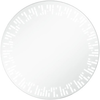 Casa Specchi VidaXL Specchio con LED 70 cm Argento