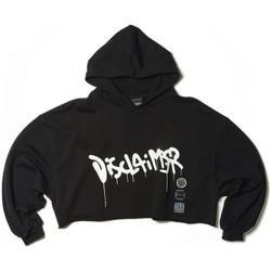 Abbigliamento Donna Felpe Disclaimer Cropped Hoodie Nero  DSC50667 Nero