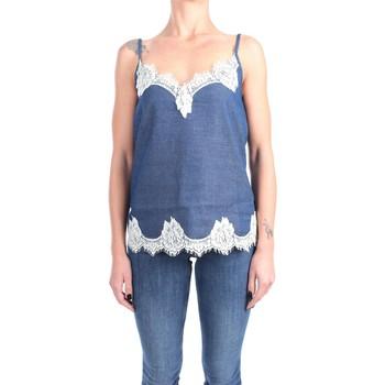 Abbigliamento Donna Top / Blusa Pink Memories 11030 Canotte Donna Denim Denim