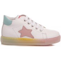 Scarpe Bambina Sneakers alte Falcotto Sneakers Bambina Sasha Bianco bianco, rosa, acqua