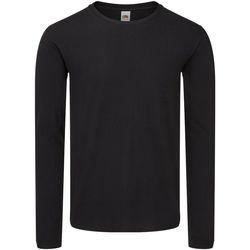 Abbigliamento Uomo T-shirts a maniche lunghe Fruit Of The Loom SS433 Nero
