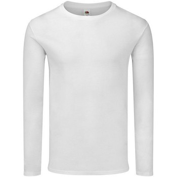 Abbigliamento Uomo T-shirts a maniche lunghe Fruit Of The Loom SS433 Bianco
