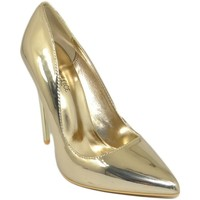 Scarpe Donna Décolleté Malu Shoes Decollete' donna a punta oro tacco a spillo 12 cm eco pelle luc ORO
