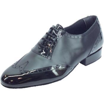 Scarpe Uomo Richelieu Vitiello Dance Shoes Scarpa da ballo per uomo in nappa e verniciato nero tacco 2cm NERO