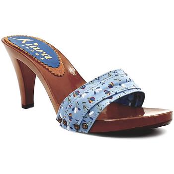 Scarpe Donna Ciabatte Kiara Shoes K6701 Azzurro